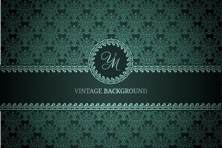 Vintage background on dark gradient background Stock Vector - 16937459