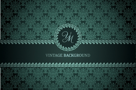 Vintage background on dark gradient background Stock Vector - 16937459
