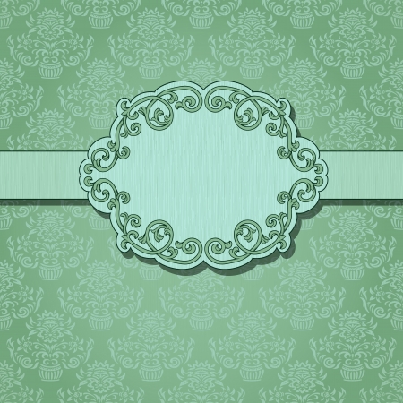 Vintage background with damask pattern Stock Vector - 16937507