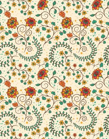 Bloemen naadloze patroon met bloemen en bladeren Stockfoto - 17041868