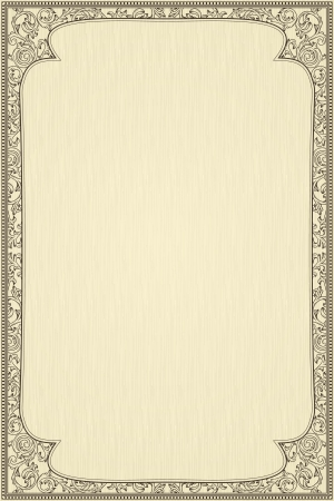 diploma border: Vintage frame on beige textured background
