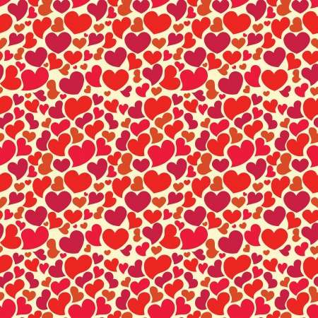 Valentine seamless wallpaper with big set of hearts Vector