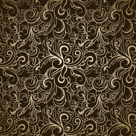 Abstracte naadloze patroon op donkere achtergrond