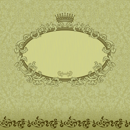 Vintage background with crown and seamless pattern  Stock Vector - 17041919