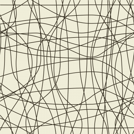 Abstract seamless pattern with waved lines  Ilustração