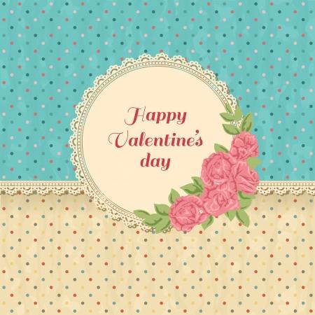 red polka dots: Fondo de la vendimia rom�ntica con rosas