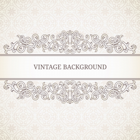 flower clip art: Vintage background with seamless pattern
