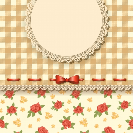 Cute valentine background with floral pattern  Illustration