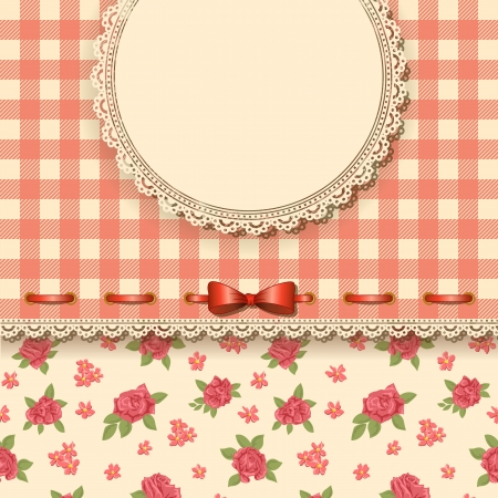 Cute valentine background with floral pattern Stock Vector - 17578297
