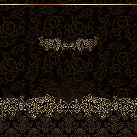 Luxury vintage background with golden ornament Stock Vector - 17578273