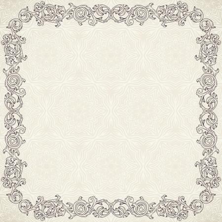 frame: Vintage background with ornate frame