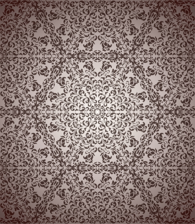 Vintage seamless pattern with floral elements  Vector