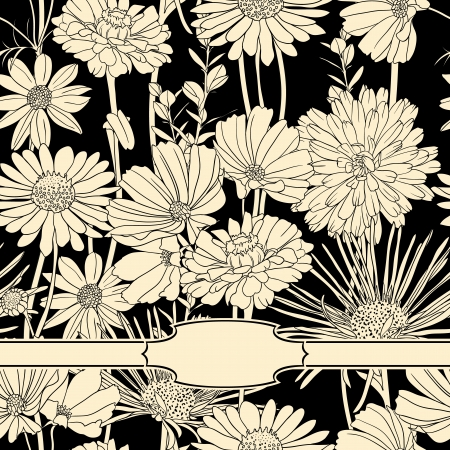 Amazing floral background with small frame Stock Vector - 18263634