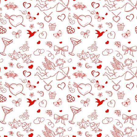 Seamless pattern for valentine Vector