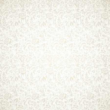 Bloemen uitstekend naadloos patroon op lichte achtergrond