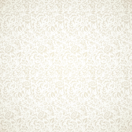 Floral vintage seamless pattern on light background Иллюстрация