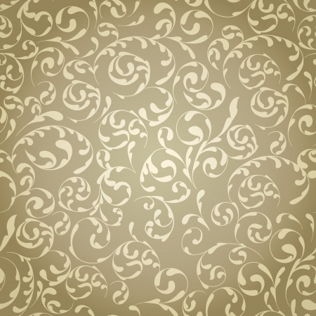 Light vintage seamless pattern with gradient Vector