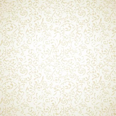 Damast naadloze patroon op lichte beige achtergrond Stock Illustratie