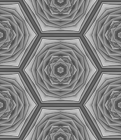 Creative grayscale abstract pattern