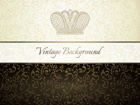 Vintage background with old crown Stock Vector - 21217347