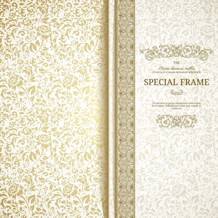 elegance: Light vintage background with seamless pattern