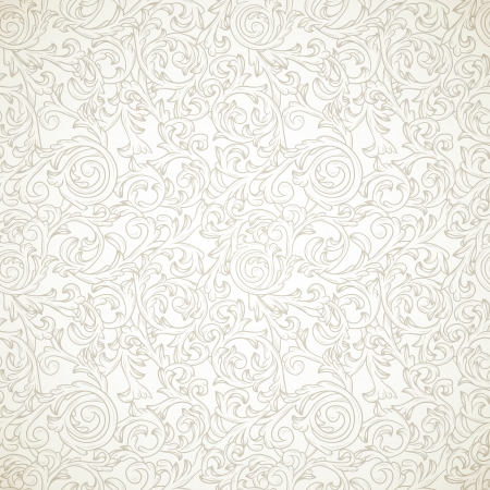 Vintage seamless pattern in baroque style Vector