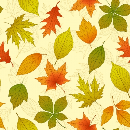 Seamless pattern with autumn leafs Stock Vector - 21529948