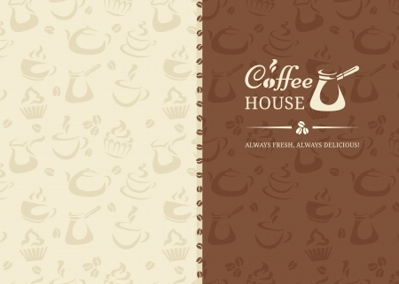 Menu in retro style for coffeshop Vectores