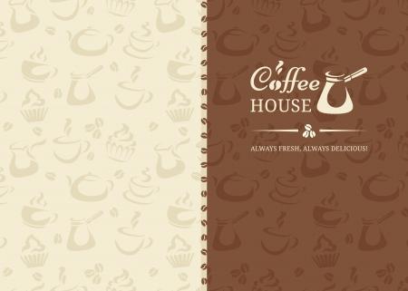 coffee beans: Menu in retro stijl voor coffeshop