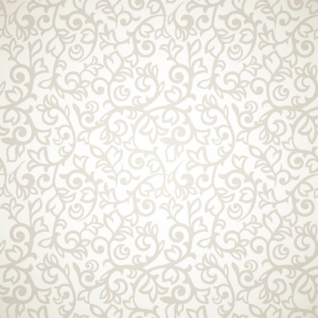 Vintage seamless pattern on beige background Ilustração