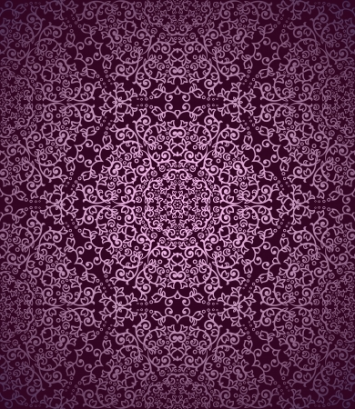 Detailed magenta vintage seamless pattern Stock Vector - 21530114