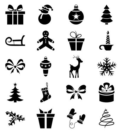 Set of 20 Christmas icons Vector
