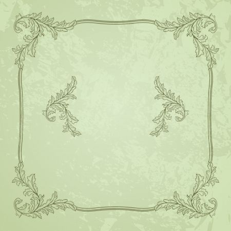 Green vintage background with grunge texture