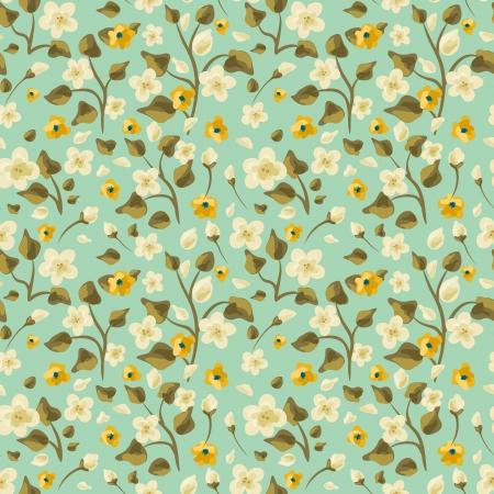 Hand getrokken bloemen naadloze patroon