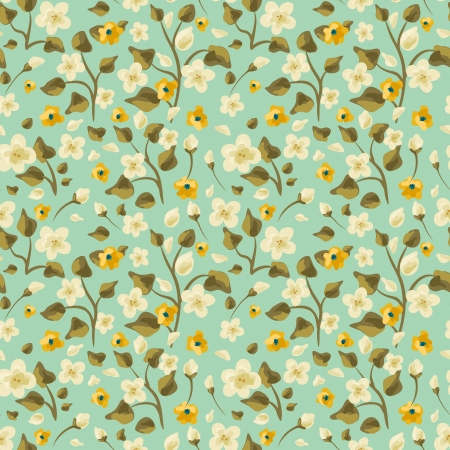 motif floral: Main dessin?e floral seamless pattern