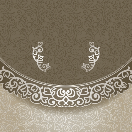 Vintage background with ornate borders Vector