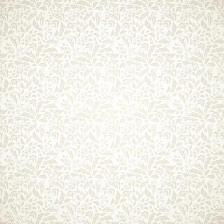 Floral vintage seamless pattern on light background Vector
