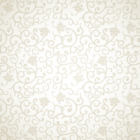 Floral vintage seamless pattern on light background Vettoriali