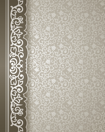 Vintage background with ornate border and elegant pattern Stock Vector - 22526864