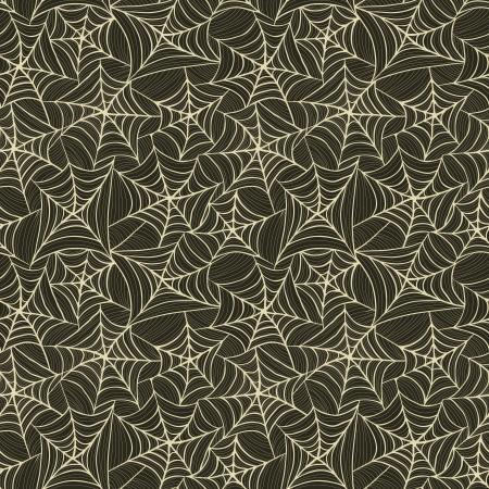 クモの巣とのシームレスなパターン