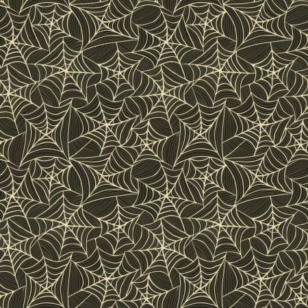 Seamless pattern with spider web