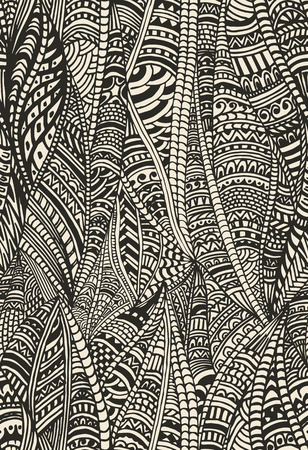 gray texture: Abstract seamless pattern in ethnic style