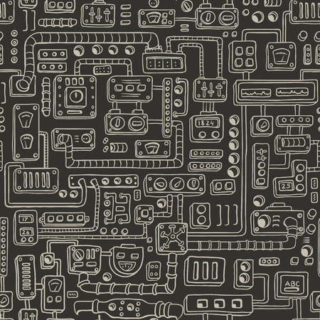 electrical appliances: Seamless pattern with some kind of electrical appliances.