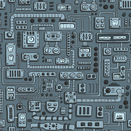 electrical appliances: Seamless pattern with some kind of electrical appliances