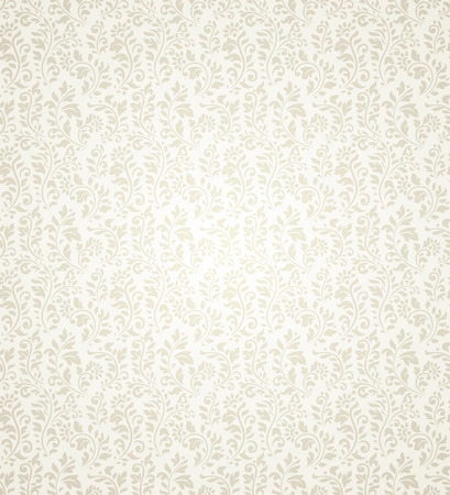 beige: Vintage seamless pattern with lot of flourish elements