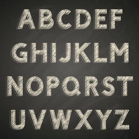Chalk font on blackboard