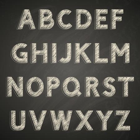 Chalk font on blackboard