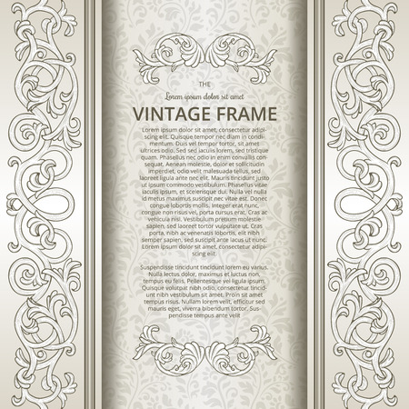 baroque border: Vintage background with flourish borders