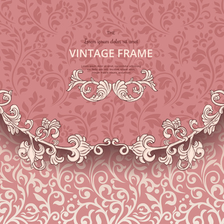 beige background: Vintage background with flourish border