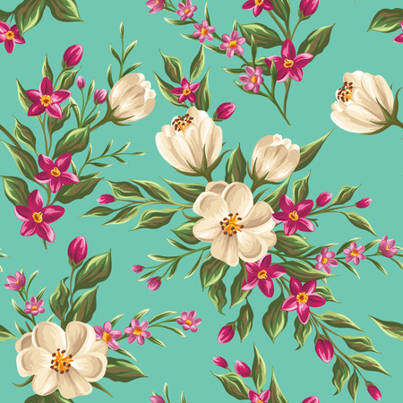 wallpaper floral: Spring seamless pattern with bright flowers